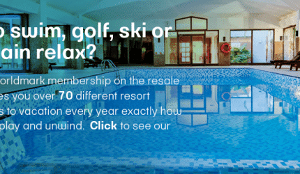 Like to swim, golf, ski or just plain relax banner